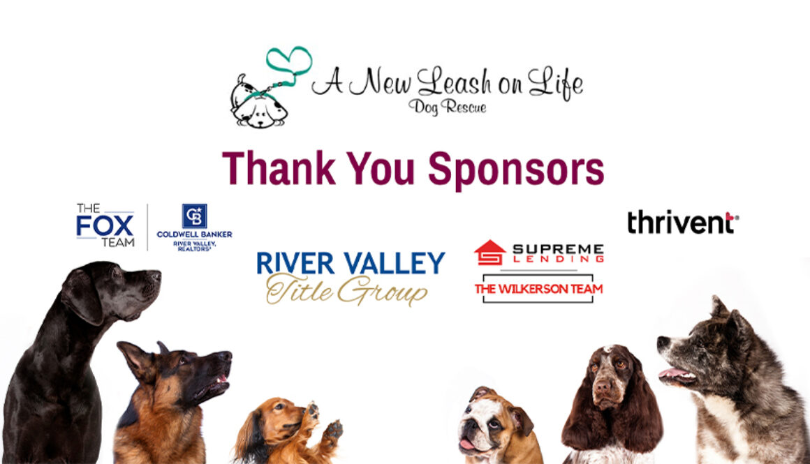 A New Leash on Life - Thank you Sponsors